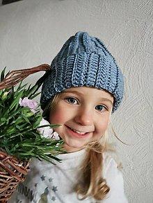 Detské čiapky - Čiapka merino jarná - 13141436_