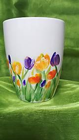 Nádoby - Maľovaný hrnček Tulipány - 13137745_