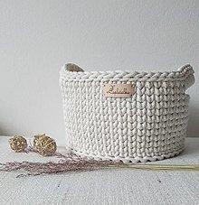 Košíky - Košík Olívia s rúčkami, priemer ca 25 cm - 13139469_