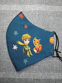 Rúška - Rúško modré Malý princ z antibakteriálnej bavlny  - 13144589_