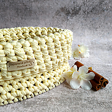 Košíky - Vanilla Bourbon   háčkovaný košík - 13143062_