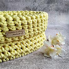 Košíky - Lemon Sorbet   štýlový háčkovaný košík - 13143350_