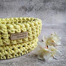Košíky - Lemon Sorbet | malý háčkovaný košík - 13143379_