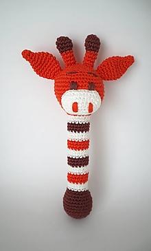 Hračky - Háčkované hrkálky (Hrkálka žirafka) - 13144825_