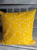 Úžitkový textil - Vankúš   žlté slnko - 13146046_