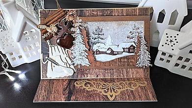 Papiernictvo - Medovníkový domček stojanová pohľadnica - 13143529_