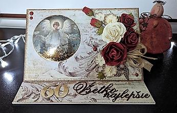 Papiernictvo - Anjelska stojanová pohľadnica - 13143658_
