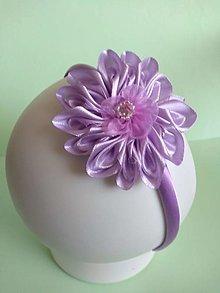 Ozdoby do vlasov - Dievčenské čelenky  (fialová, ružová, modrá,) - 13142879_