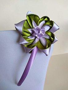 Ozdoby do vlasov - Dievčenské čelenky  (zeleno-fialová, bordová,béžová,) - 13143562_