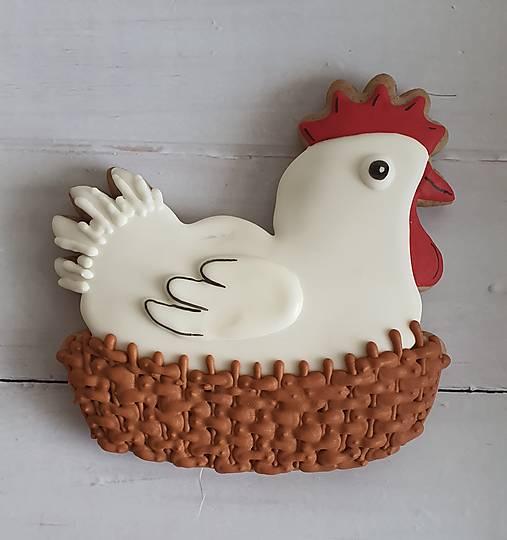 Dekorácie - Veľkonočná perníková sliepka/kohút (Sliepka) - 13143905_