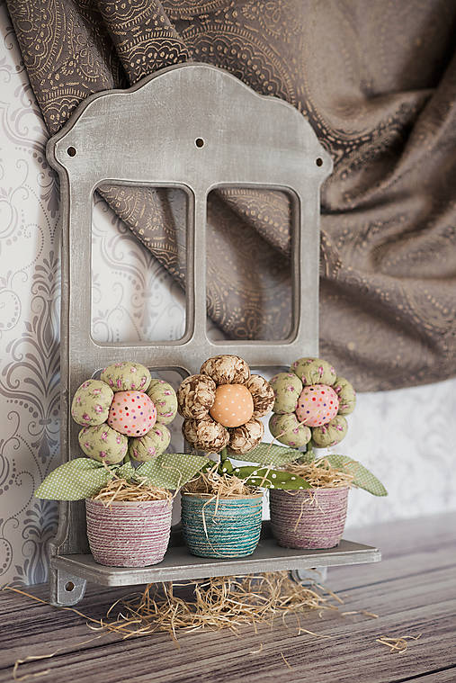 Dekorácie - Voňavý textilný kvietok v črepníku - 13144578_