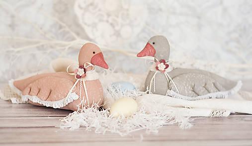 Bábiky - Veľkonočná kačka - Shabby chic - 13144986_