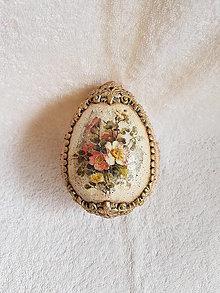 Dekorácie - Veľkonočné vajce ruže - 13143083_