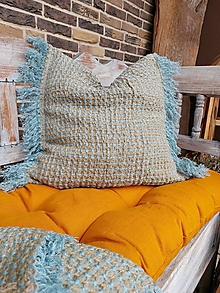 Úžitkový textil - Ľanová obliečka na vankúš Shaggy Boy - 13144330_