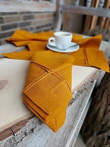 Úžitkový textil - Ľanový obrúsok Obsession Orange - 13144483_