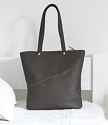 "Kabelky - ALEX ""Lines"" hnedá kožená kabelka - 13142600_"