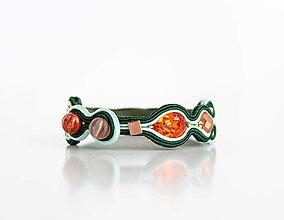 Náramky - Šujtášový farebný náramok Frida - 13150874_