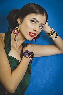 Náramky - Šujtášový farebný náramok Frida - 13150930_