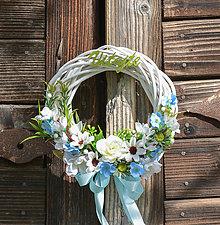 Dekorácie - Venček na dvere s nápisom Vitajte - 13151507_