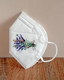 Rúška - respirátor levanduľa - 13147832_