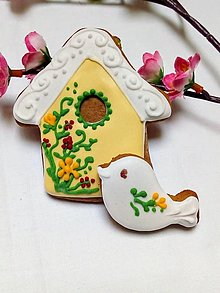 Dekorácie - Domček s vtáčikom - 13149580_