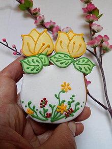 Dekorácie - Vázička s tulipánom - 13149630_