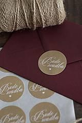 "Papiernictvo - Nálepka na svadobnú obálku ""Bude svadba"" II. ❤ - 13149953_"