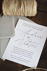 """Papiernictvo - Svadobné oznámenie """"Jednoduchá šedá"""" ❤ - 13150034_"""