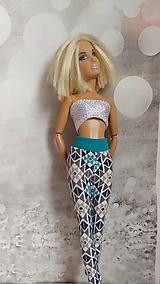 Hračky - Vzorované legíny pre Barbie - 13149972_