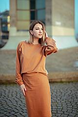 Šaty - Škoricový set – mikina a sukňa - 13148248_