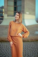 Šaty - Škoricový set – mikina a sukňa - 13148251_