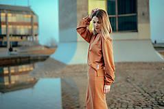 Šaty - Škoricový set – mikina a sukňa - 13148257_
