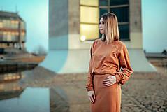 Šaty - Škoricový set – mikina a sukňa - 13148259_