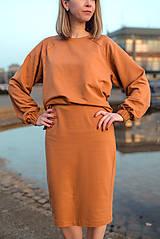 Šaty - Škoricový set – mikina a sukňa - 13148260_