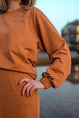 Šaty - Škoricový set – mikina a sukňa - 13148262_