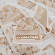 """Papiernictvo - Papierová samolepka """"Písací stroj"""" - Limitovaná edícia - 13150537_"""