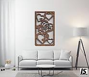 """Dekorácie - Drevený obraz """"LOVE"""" - 13149116_"""
