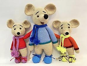 Hračky - Myš-iaci / háčkovaná hračka/ - 13149468_