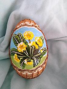 """Dekorácie - Husacia kraslica """"Jarné kvety"""" - 13154729_"""