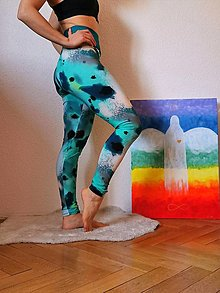 Nohavice - Legíny akvarel - 13155885_