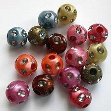Korálky - Korálky plast 10mm-MIX-16ks - 13156022_