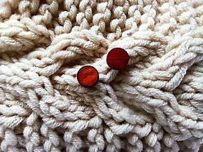 Náušnice - Drevené náušnice ďobky z afrického dreva - 13151635_