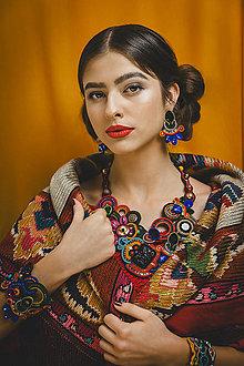 Náušnice - Šujtášové farebné náušnice Frida - 13152085_