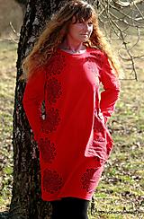 Šaty - Dámske šaty mini, oversize, šité, maľované, etno MEDEA - 13152259_