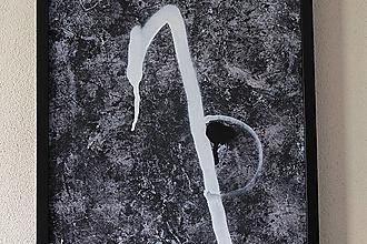 Obrazy - attachment . maľba akrylom a sprejom na dreve . A3 - 13152203_