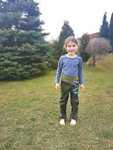 """Detské oblečenie - Softshellové nohavice """"dino style"""" jarné - 13156484_"""