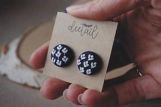 Náušnice - Rozkvitni - biele púčiky, malé - 13153777_
