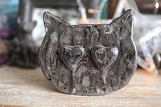 Svietidlá a sviečky - CAtNDLE BY WERDZA, eko sviečka v keramike z repkového vosku - 13152623_
