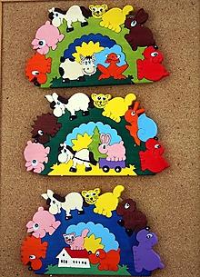 Hračky - Drevené skladačky. Montessori skladačky - lunety - 13153011_