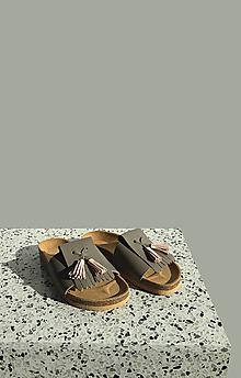 Obuv - Korkáče Grey/Nude Strapp - 13152544_